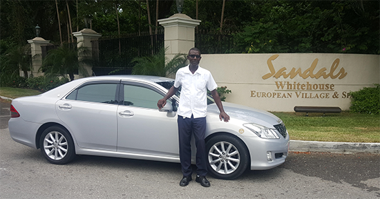 Lloyd at Sangster Internation Airport in Montego Bay - Lloyd's Taxi and Tours Jamaica.com - Lloyd's Taxi and Tours Jamaica.net - Lloyd's Transport Jamaica.com